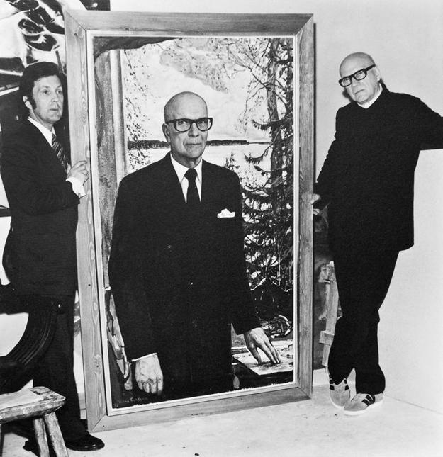 И.С. Глазунов работает над портретом Президента Финляндии Урхо Калева Кекконена. Хельсинки. 1973
