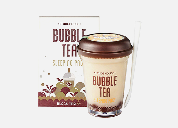 Bubble Tea Sleeping Pack Black Tea от Etude House, 1390 руб.