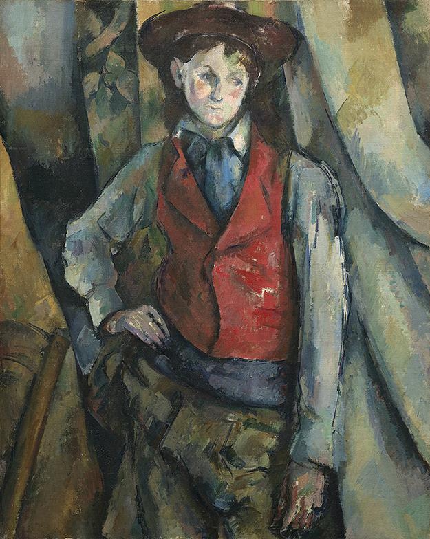 Поль Сезанн, «Мальчик в красном жилете», 1890