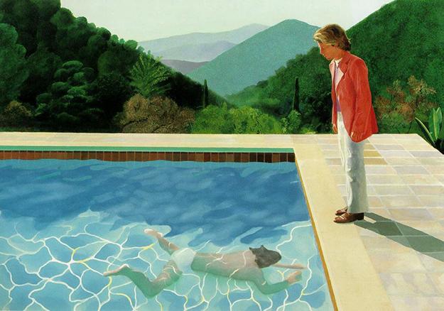 Дэвид Хокни, «Pool with Two Figures», 1972