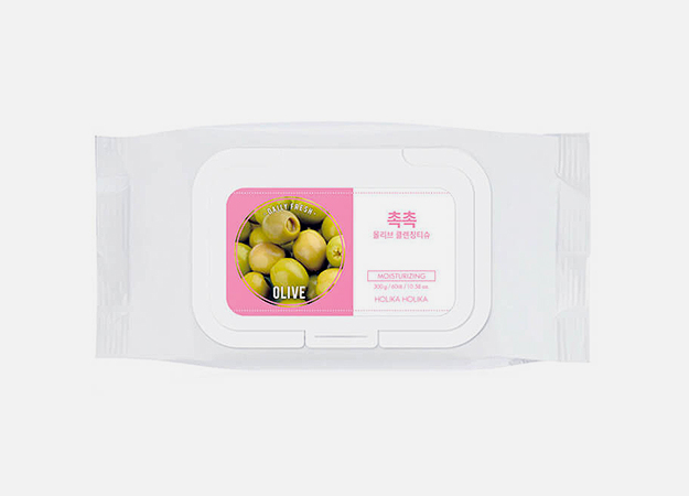 Daily Fresh Olive Cleansing Tissue от Holika Holika, 590 руб.