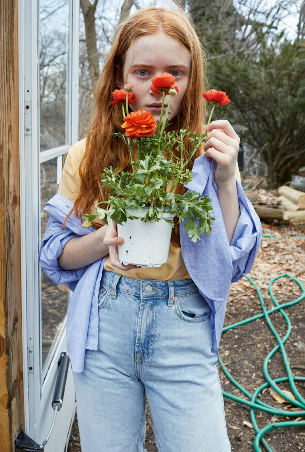Buro x System exclusive: Sadie Sink on fame, family and her love of fashion (фото 10)