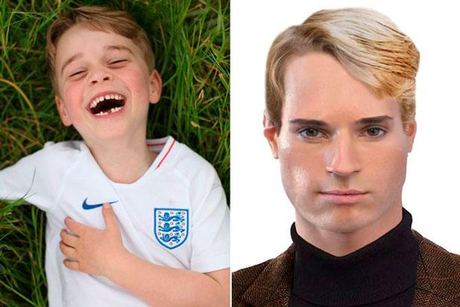 Британцы показали, как будут выглядеть дети Кейт Миддлтон и Меган Маркл через 20 лет (фото 1)