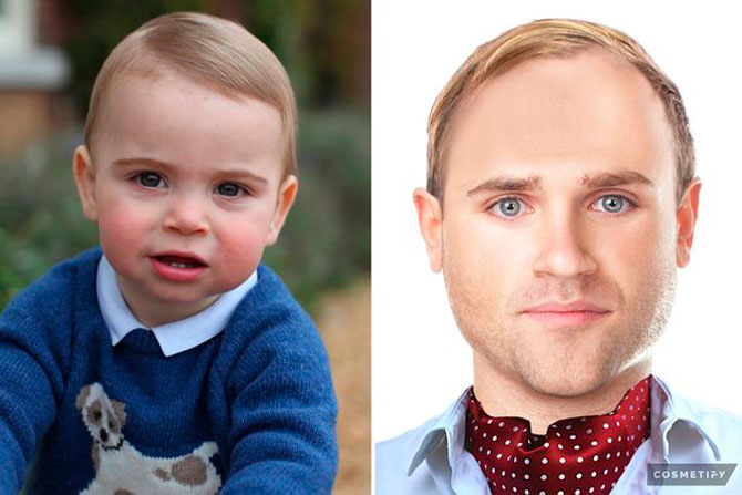 Британцы показали, как будут выглядеть дети Кейт Миддлтон и Меган Маркл через 20 лет (фото 2)