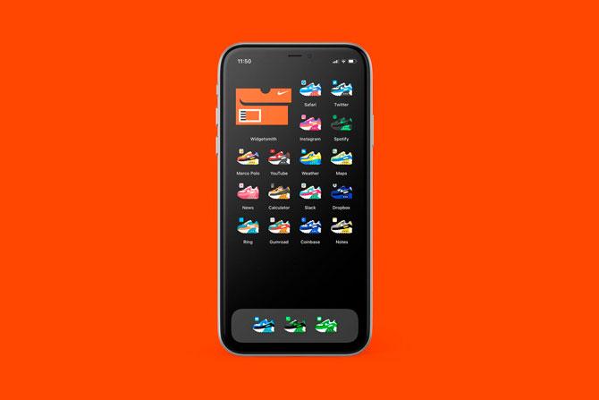 Иконки приложений iPhone теперь можно заменить на кроссовки (фото 1)