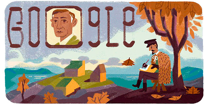 Google посвятил дудл 150-летию со дня рождения Ивана Бунина (фото 1)