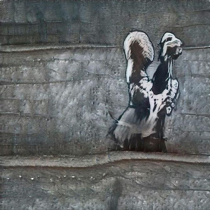 Искусственный интеллект нарисовал арт в стиле Бэнкси - получилось что-то страшное (фото 1)