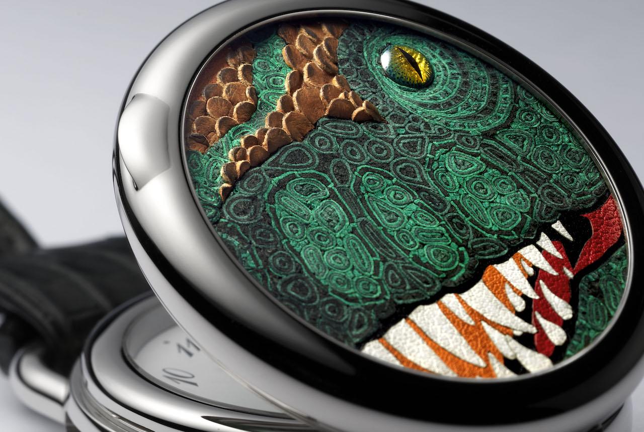 Hermès выпустил карманные часы с изображением тираннозавра (фото 3)