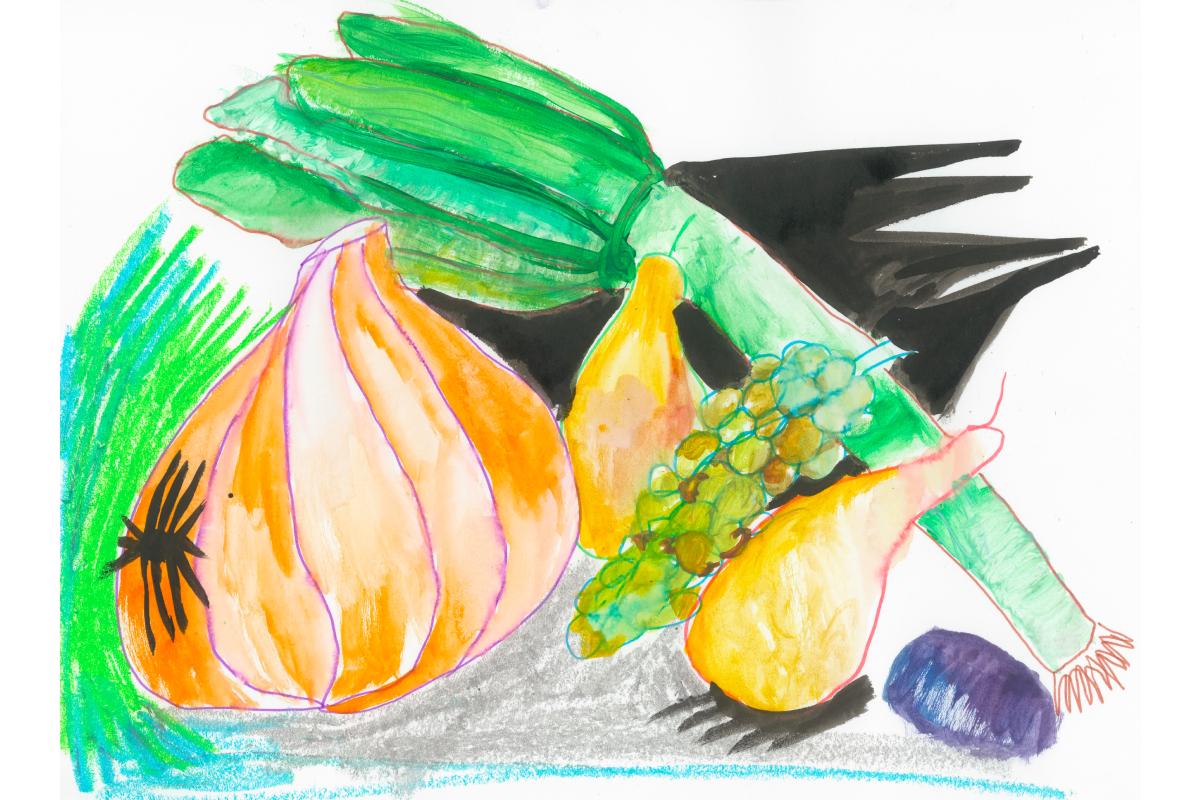 Художники сделали работы из овощей и фруктов для проекта онлайн-галереи Sample и Даниловского рынка (фото 1)