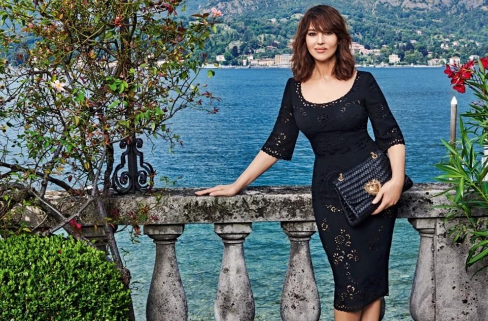 Моника Беллуччи снялась в кампании Dolce & Gabbana на озере Комо (фото 1)