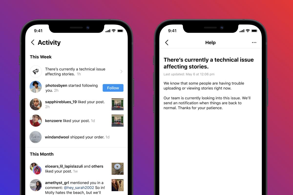 Instagram тестирует новые уведомления о технических сбоях (фото 1)
