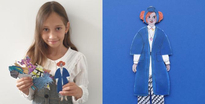 Дети рисуют самые яркие образы из коллекций сезона весна-лето 2021
