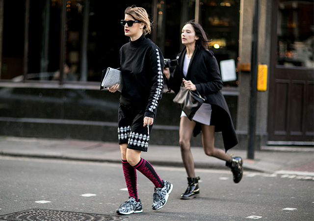 London Fashion Week A / I 2015: street style.  Terzo giorno (6 foto)