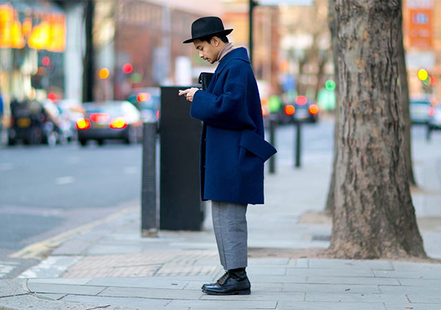 London Fashion Week A / I 2015: street style.  Terzo giorno (foto 1)