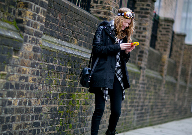 London Fashion Week A / I 2015: street style.  Terzo giorno (5 foto)