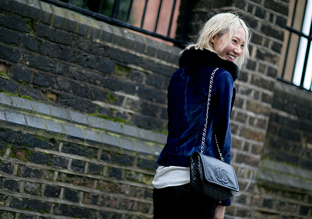 London Fashion Week A / I 2015: street style.  Terza giornata (12 foto)