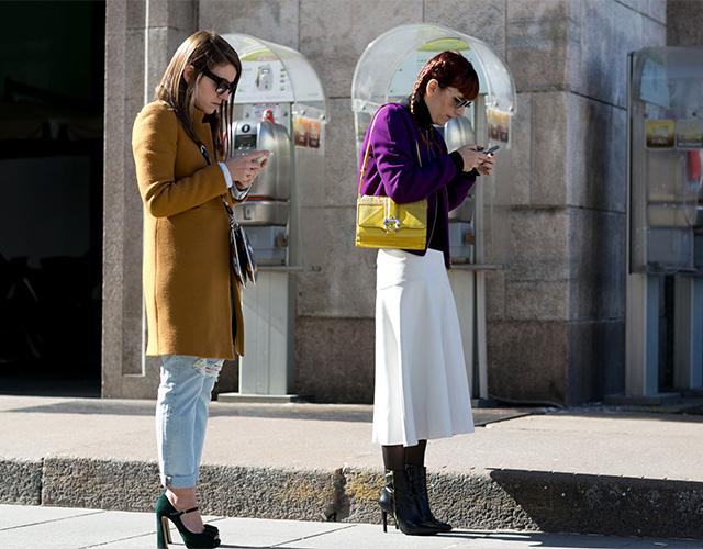Неделя моды в Милане F/W 2015: street style. Часть 1 (фото 29)