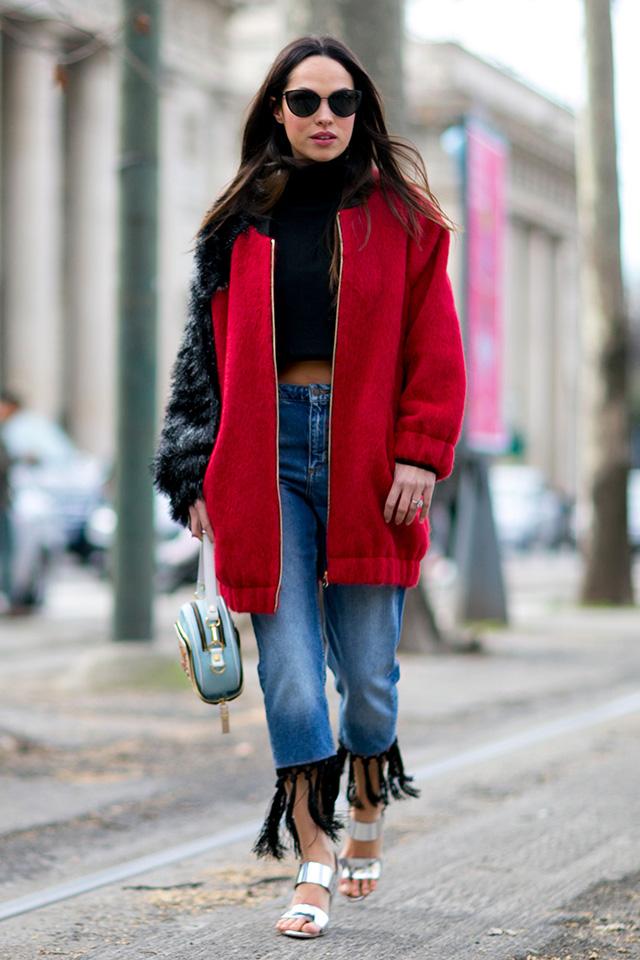 Неделя моды в Милане F/W 2015: street style. Часть 1 (фото 23)