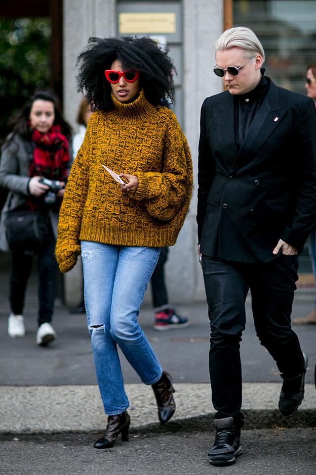 Неделя моды в Милане F/W 2015: street style. Часть 1 (фото 5)