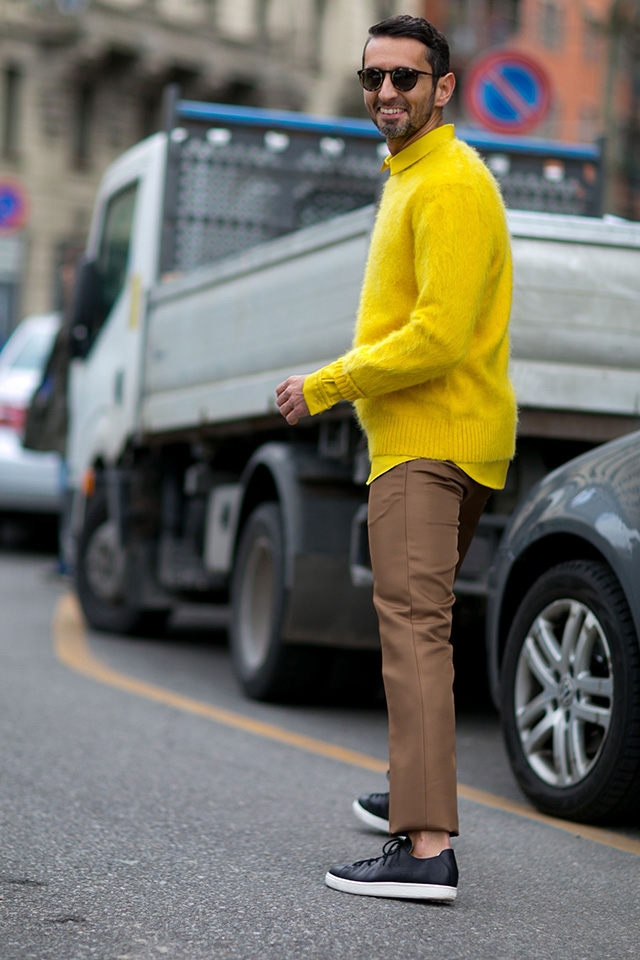 Неделя моды в Милане F/W 2015: street style. Часть 1 (фото 22)