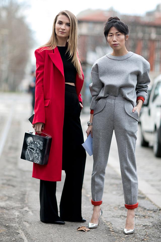 Неделя моды в Милане F/W 2015: street style. Часть 1 (фото 21)