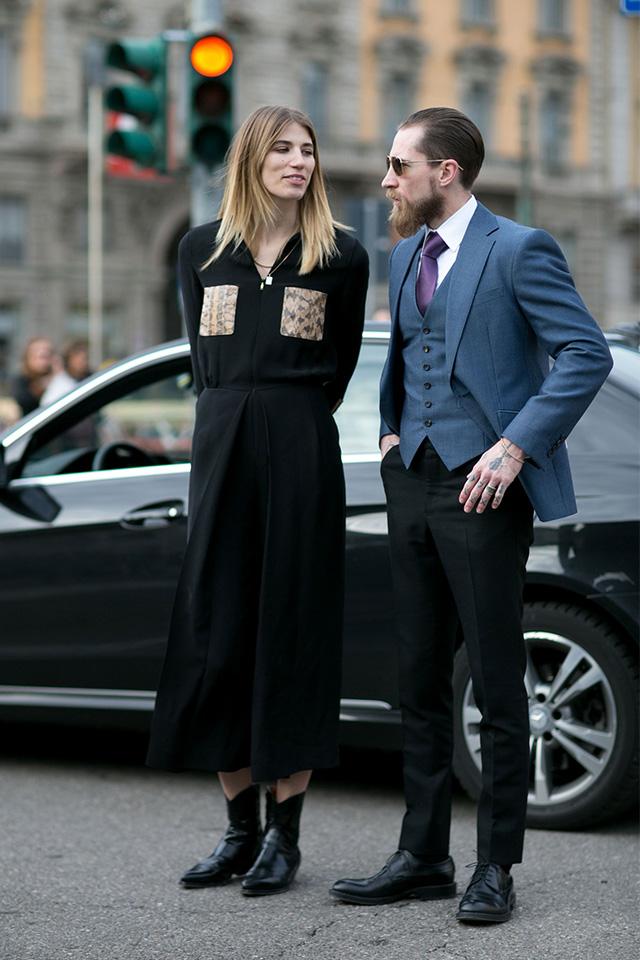 Неделя моды в Милане F/W 2015: street style. Часть 1 (фото 1)