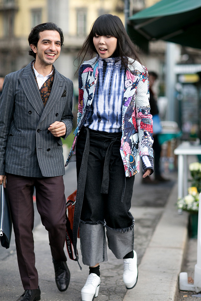 Неделя моды в Милане F/W 2015: street style. Часть 1 (фото 19)