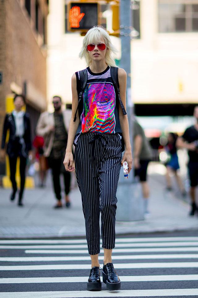 Что носят на Неделе моды в Нью-Йорке: 1 часть (фото 10)
