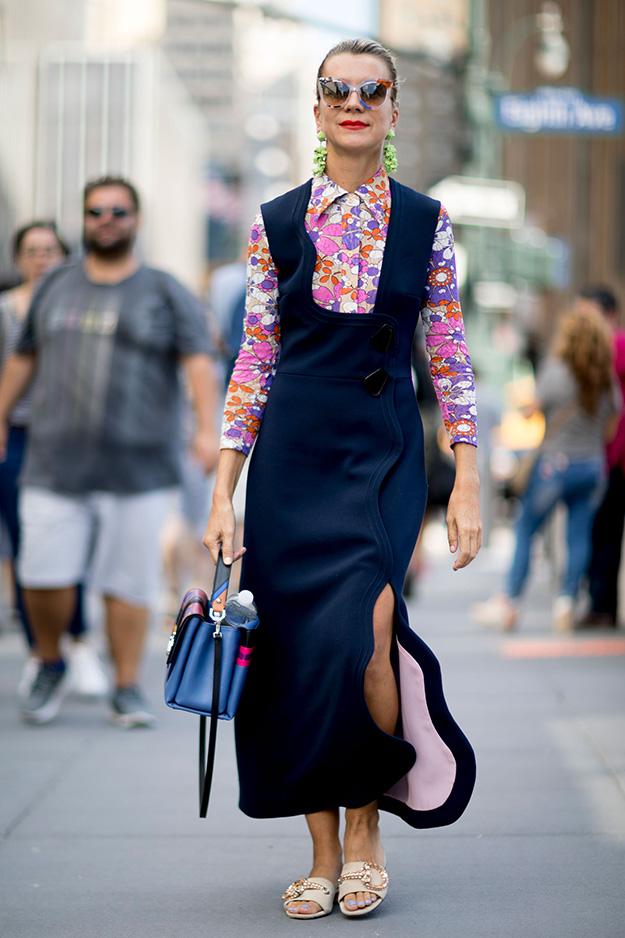 Что носят на Неделе моды в Нью-Йорке: 6 часть (фото 8)