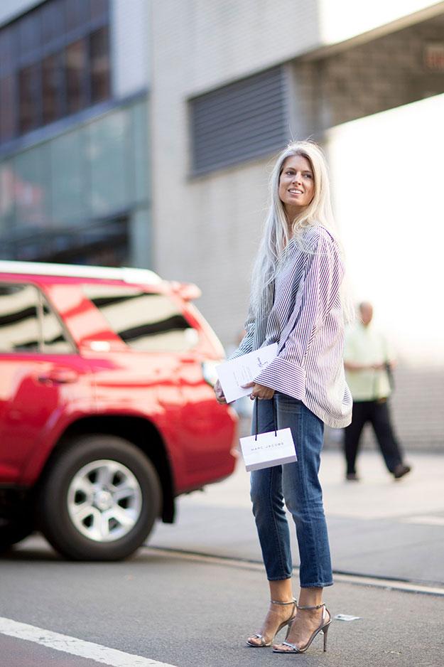Что носят на Неделе моды в Нью-Йорке: 7 часть (фото 15)