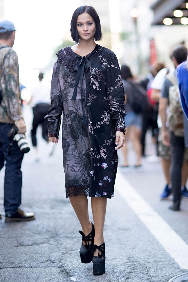 Что носят на Неделе моды в Нью-Йорке: 7 часть (фото 5)