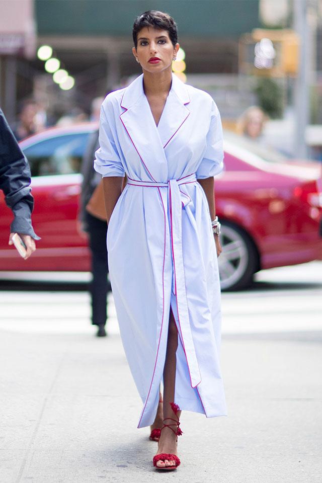 Что носят на Неделе моды в Нью-Йорке: 4 часть (фото 10)