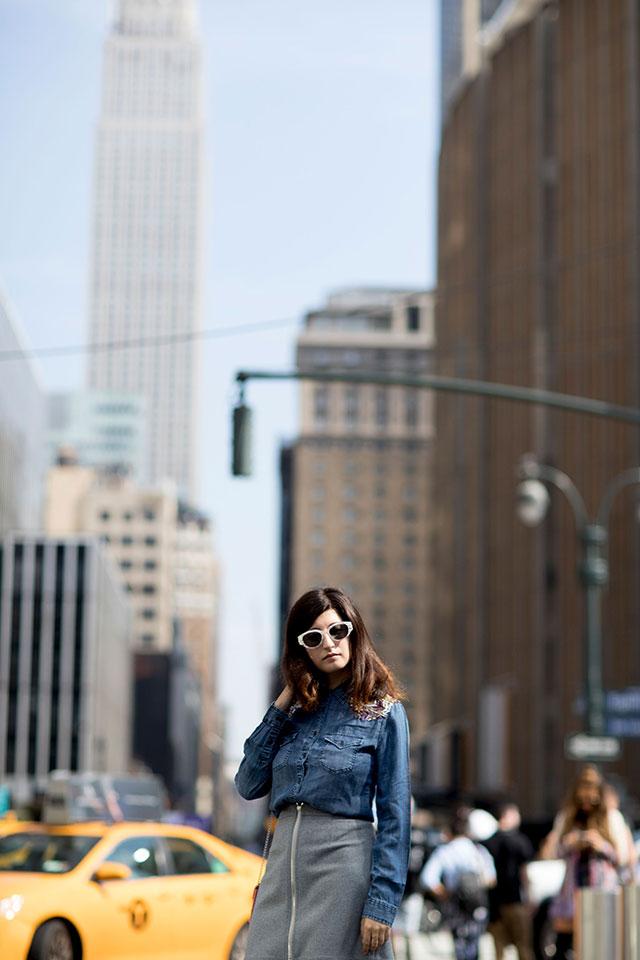 Что носят на Неделе моды в Нью-Йорке: 1 часть (фото 1)