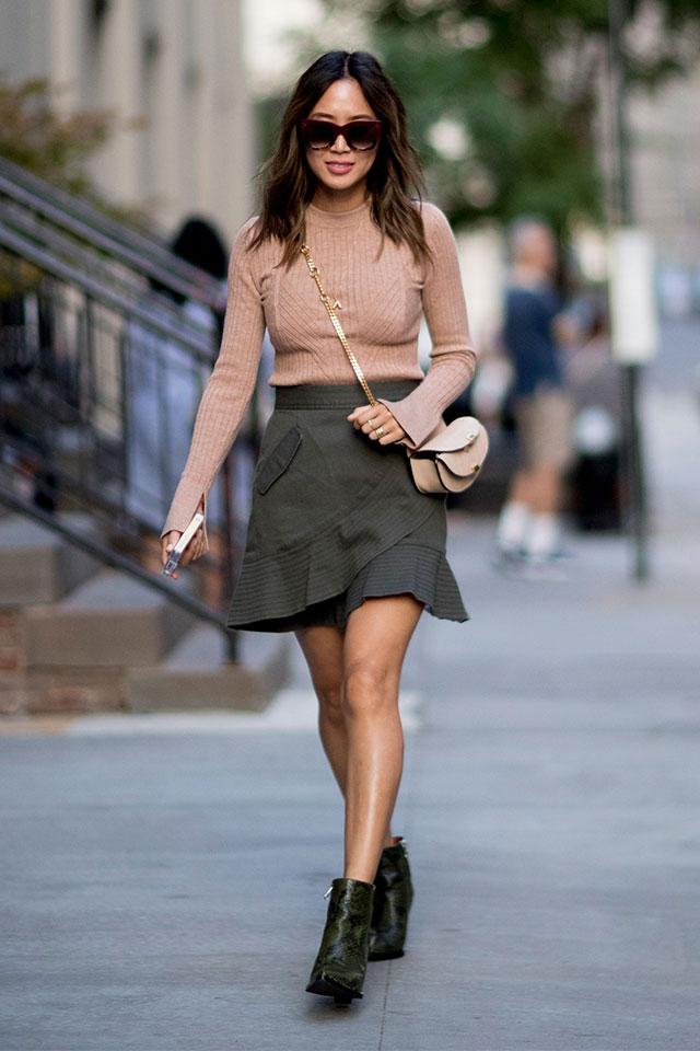 Что носят на Неделе моды в Нью-Йорке: 1 часть (фото 13)