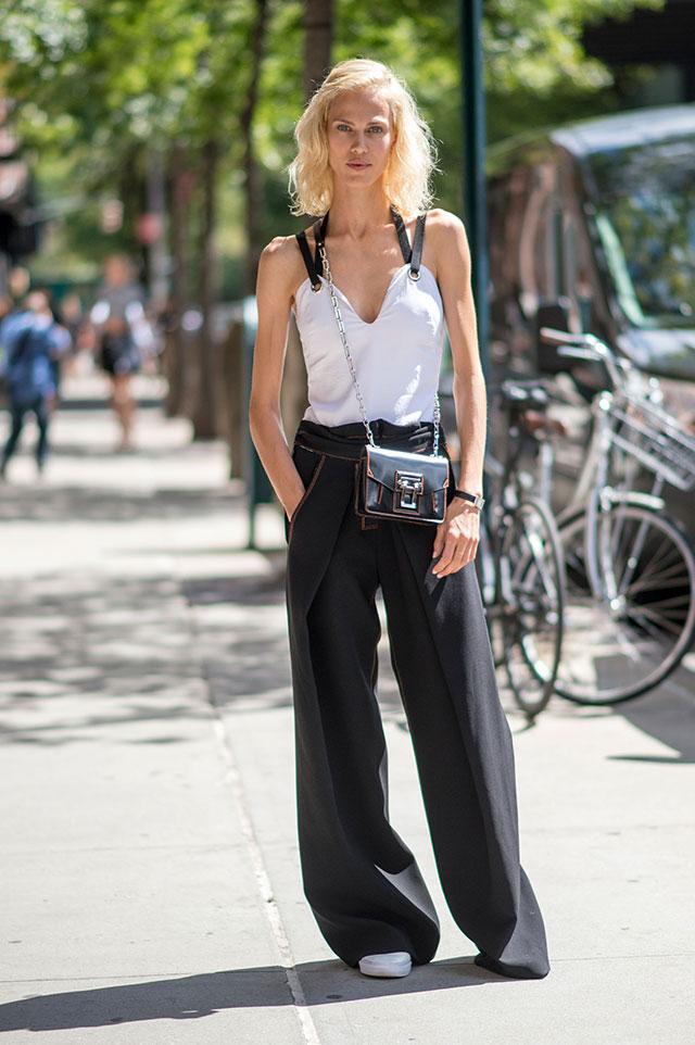 Что носят на Неделе моды в Нью-Йорке: 4 часть (фото 22)