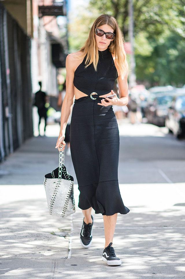 Что носят на Неделе моды в Нью-Йорке: 4 часть (фото 7)