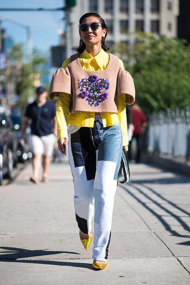 Что носят на Неделе моды в Нью-Йорке: 6 часть (фото 16)
