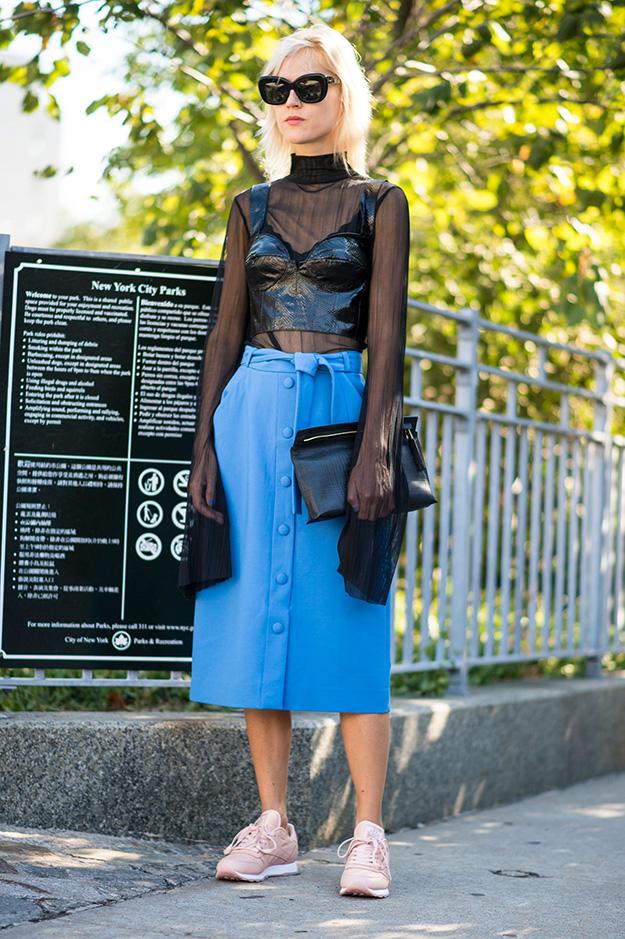 Что носят на Неделе моды в Нью-Йорке: 6 часть (фото 5)