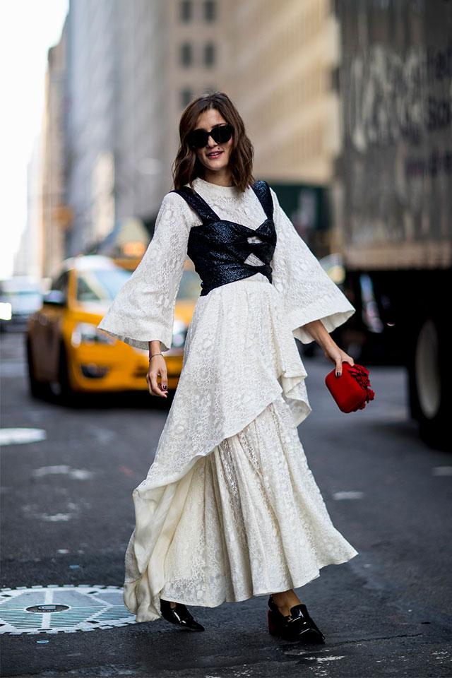 Что носят на Неделе моды в Нью-Йорке: 3 часть (фото 7)