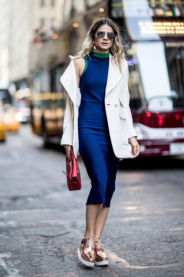 Что носят на Неделе моды в Нью-Йорке: 3 часть (фото 11)