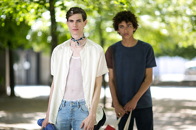 Неделя мужской моды в Париже, весна-лето 2016: street style. Часть 1 (фото 17)