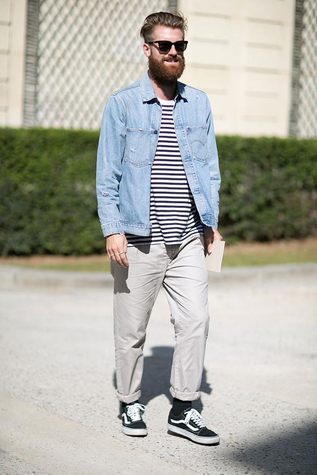 Неделя мужской моды в Париже, весна-лето 2016: street style. Часть 1 (фото 13)