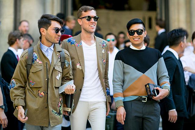 Неделя мужской моды в Париже, весна-лето 2016: street style. Часть 1 (фото 9)