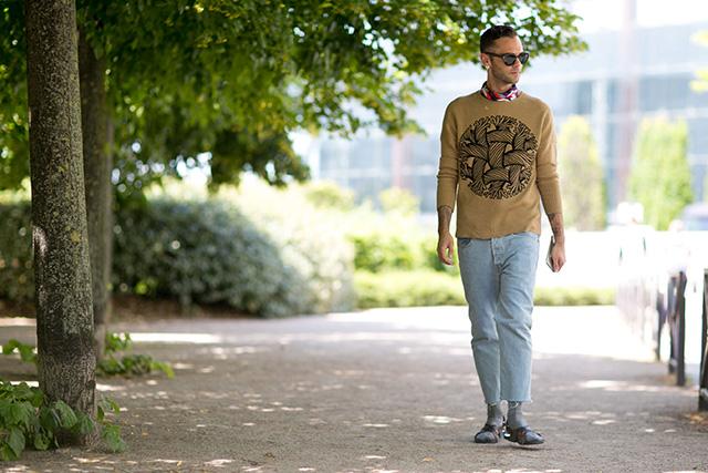 Неделя мужской моды в Париже, весна-лето 2016: street style. Часть 1 (фото 15)
