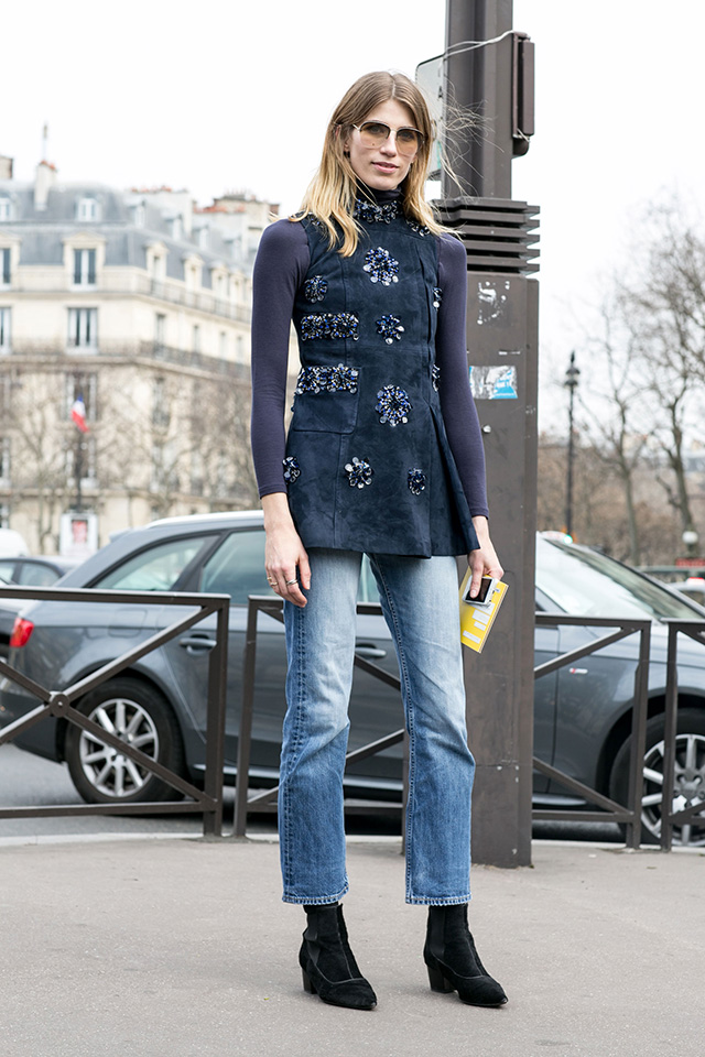 Paris Fashion Week A / I 2015: street style.  Part 7 (11 foto)
