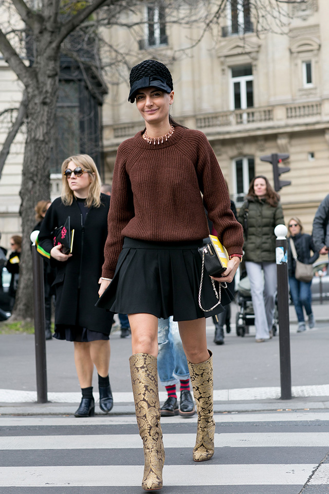 Paris Fashion Week A / I 2015: street style.  Part 7 (9 foto)