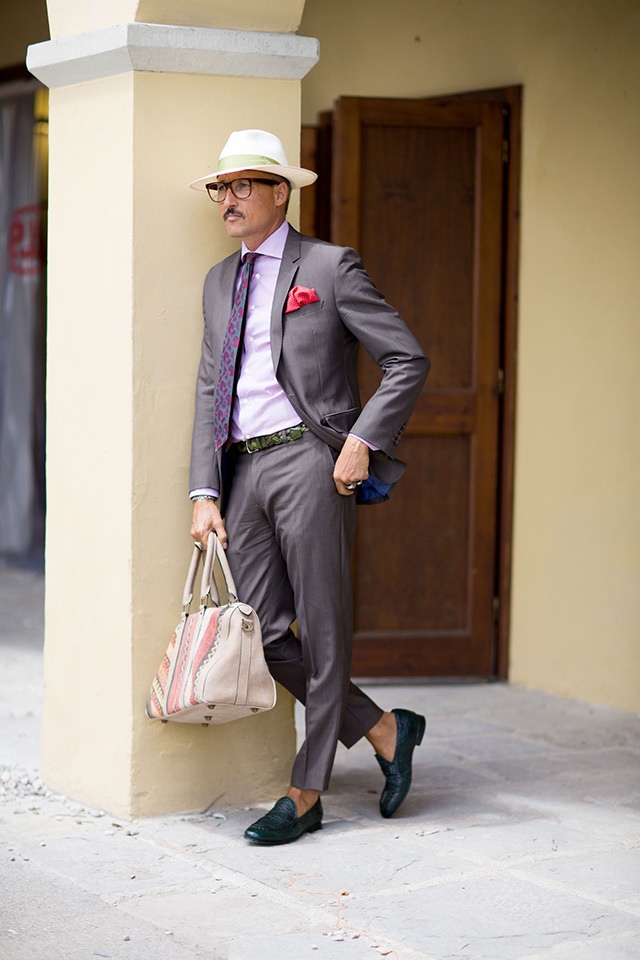 Street style на Pitti Uomo, весна-лето 2016. Часть I (фото 19)