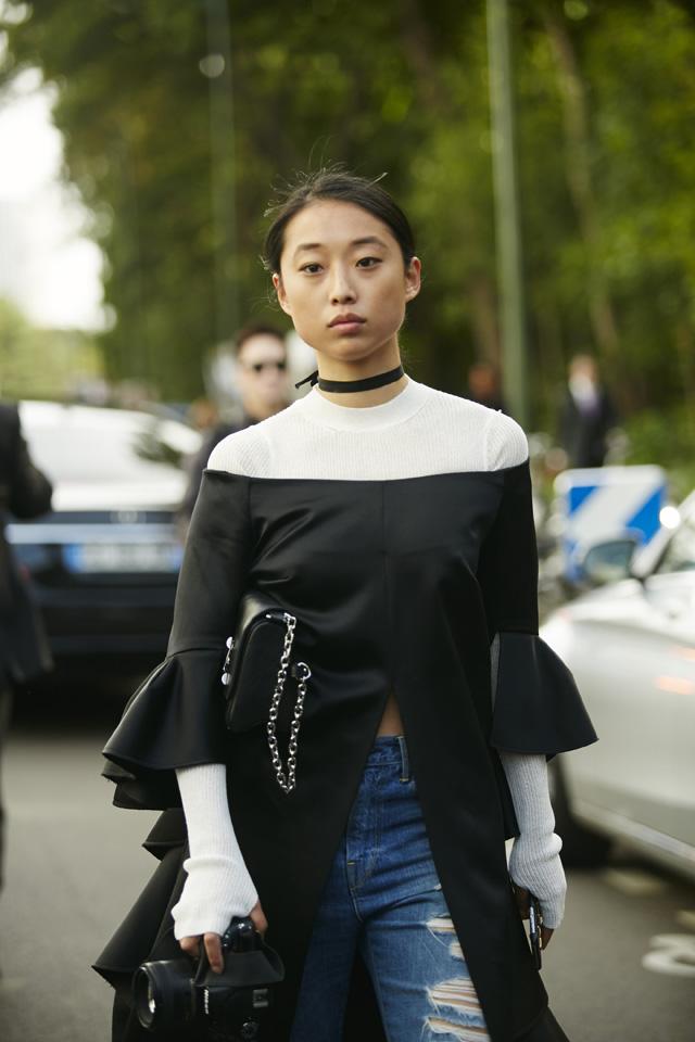 Неделя моды в Париже, весна-лето 2016: street style. Часть 5 (фото 13)