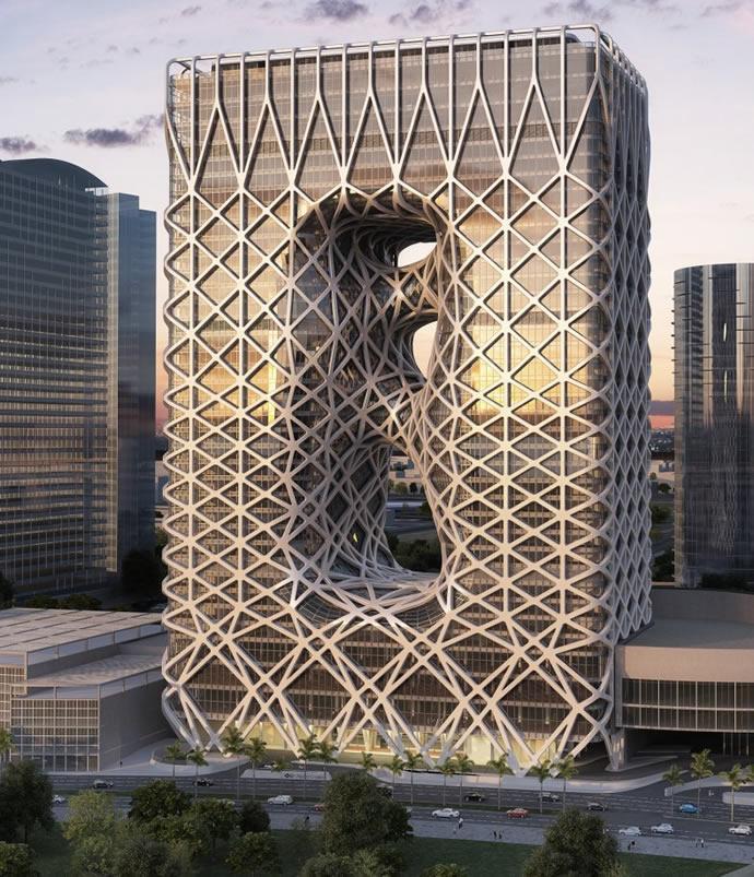 Заха Хадид представила проект нового отеля в Макао (фото 1)