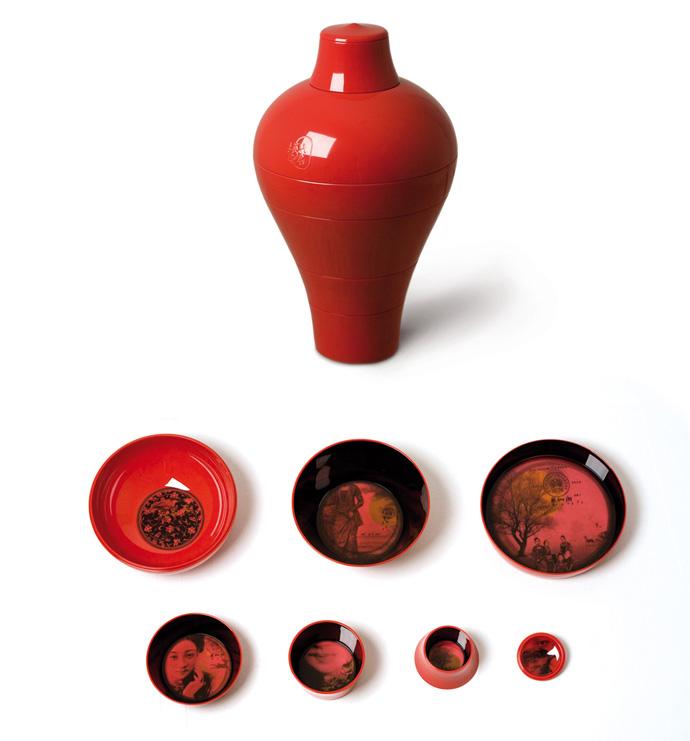Комплект Ming, состоящий из шести чаш, вкладывающихся одна в другую